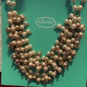 Stella & Dot multi chain pearl necklace
